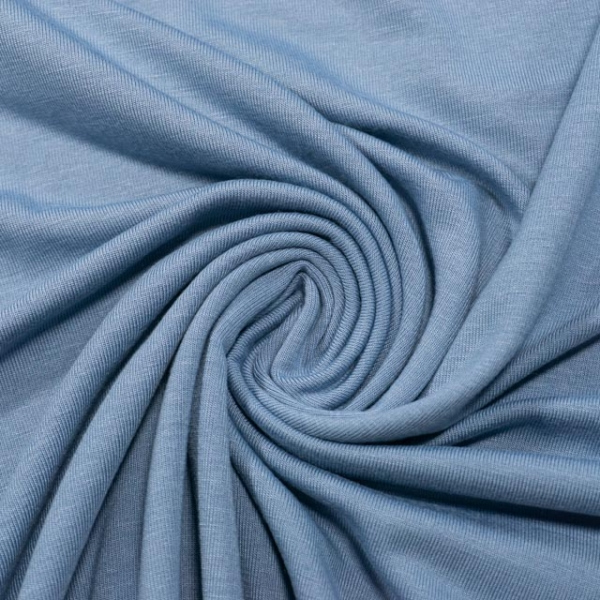 Bamboojersey jeansblau