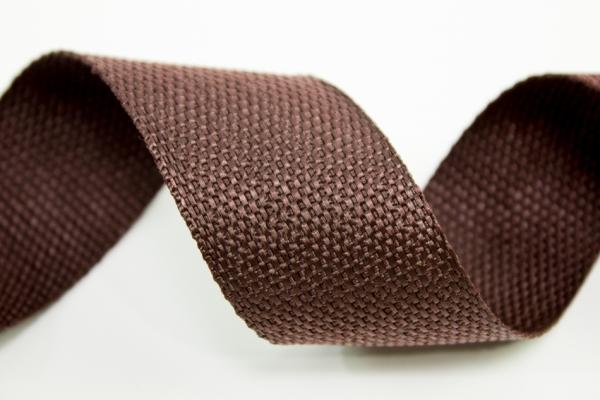 Gurtband 40mm braun Polyester Ökotex 100