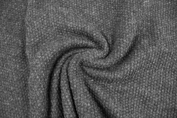 Strick Wollstoff Struktur anthra melange 100% Wolle Ökotex 100