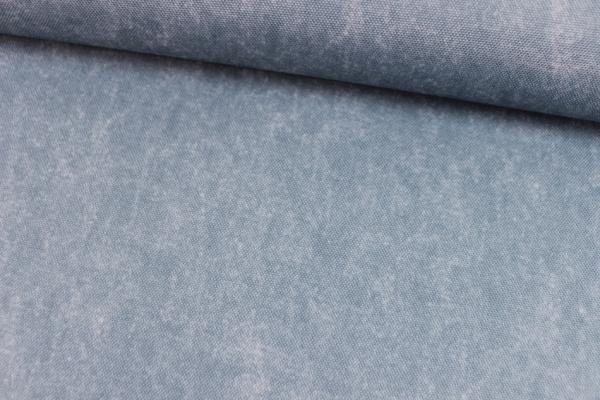 Outdoorstoff marmorierter Look jeansblau hell