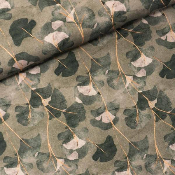 Canvas DIGITAL Ginko Leaves oliv