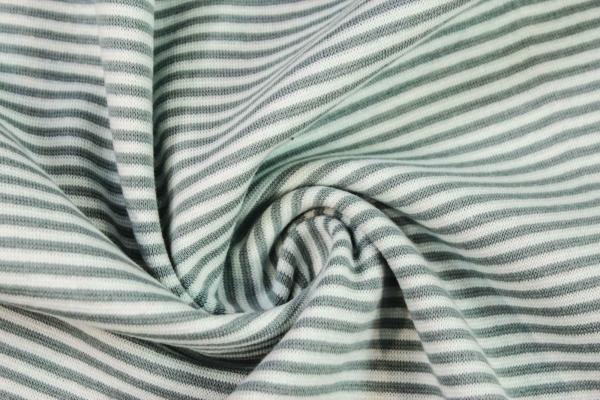 Ringel Bündchen Feinstrick dusty mint - mint Ökotex 100