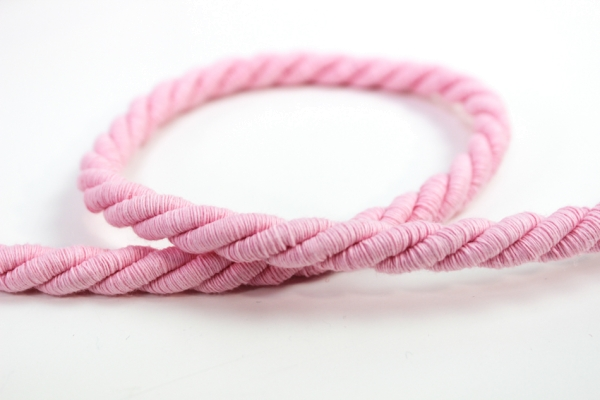 8mm Kordel gedreht rosa Atlaskordel Baumwolle Ökotex 100