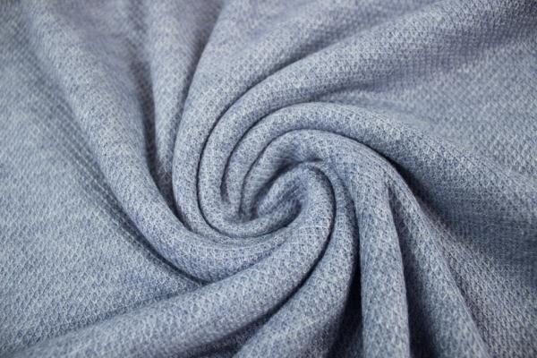 Polo Piqué Strick-Jersey jeans meliert - Pashmina Style Ökotex 100