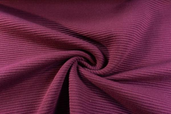 Baumwolljersey Stripe Knitted bordeaux Ökotex 100
