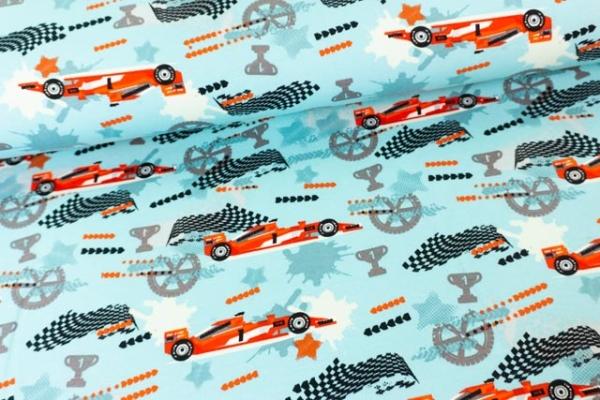 Sweat French Terry Racing Car mint Ökotex 100