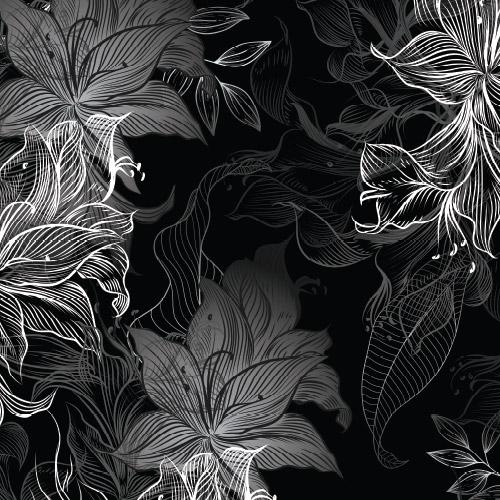 Bio-Baumwolljersey Wavey Blossom silver-grey Ökotex 100