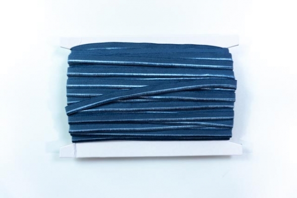 Elastisches Paspelband jeansblau