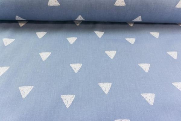 Baumwolle/Webware Drawing Triangle jeans-weiß Ökotex 100