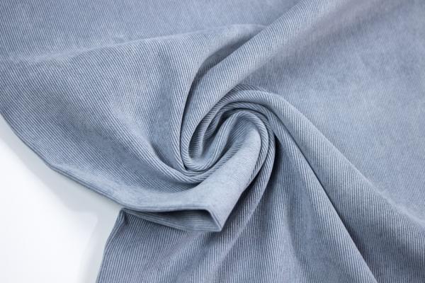 Stretch Feincord / Babycord dusty blue ÖkoTex 100