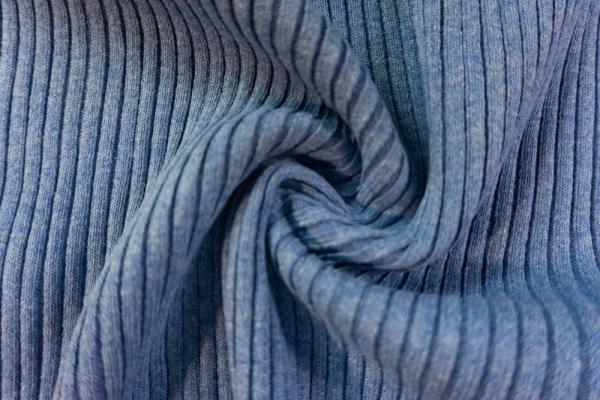 Grobstrickbündchen HEAVY jeansblau meliert Cozy-Style Ökotex 100