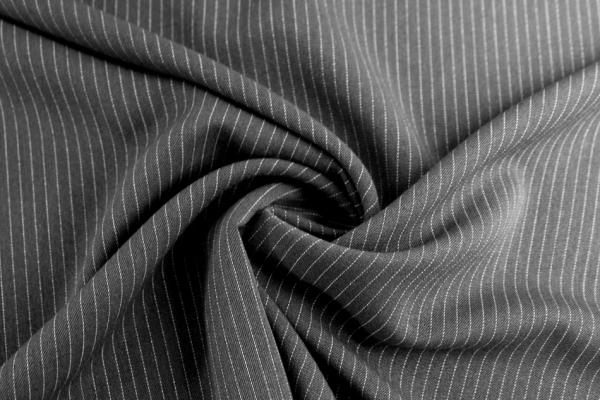 Fashionstoff Twill Nadelstreifen dark grey