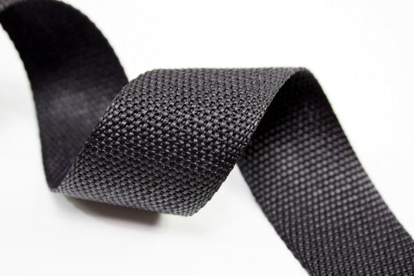 Gurtband 40mm schwarz Polyester Ökotex 100