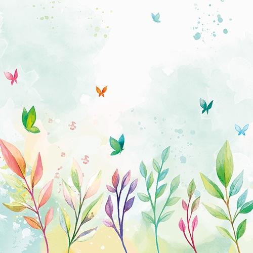 Bio Baumwolljersey Bordüre Schmetterlinge weiß Ökotex 100