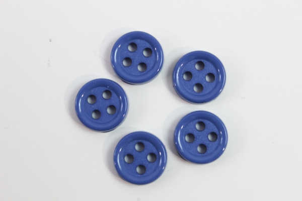 Hemd oder Blusenknopf 11 mm mittelblau
