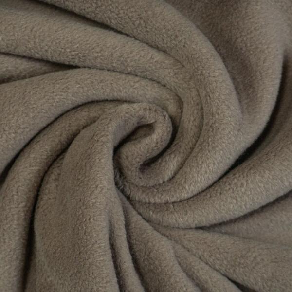 Baumwoll Fleece Doubleface braun