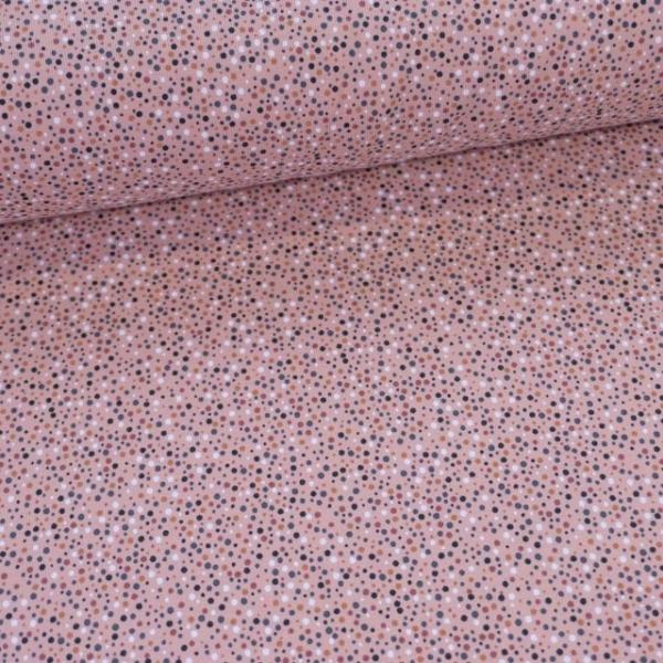 Baumwolljersey Klitze Kleine Punkte rosa Ökotex 100