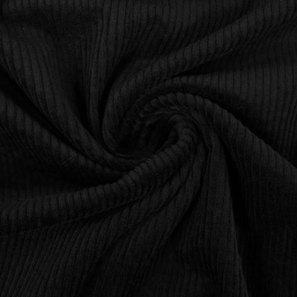 Breitcord Stretch schwarz SCHWER 320gr/m² ÖkoTex 100