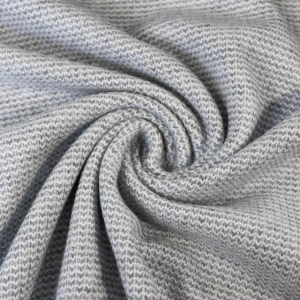 Strick-Jacquard Smooth Knit hellgrau Ökotex 100