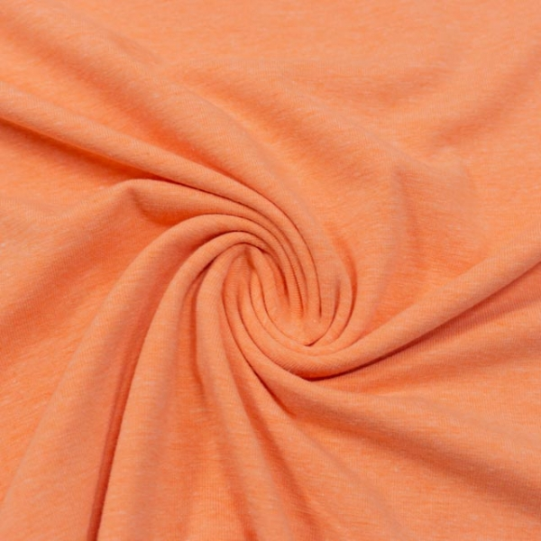Baumwolljersey MELANGE orange hell