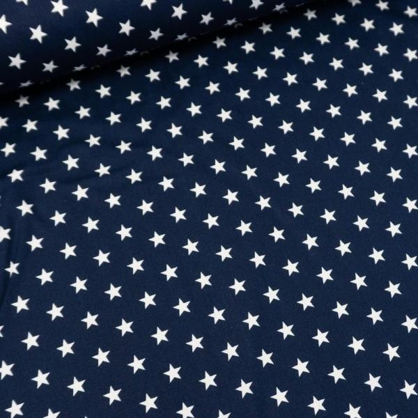 Baumwolle/Webware Stars navy Ökotex 100