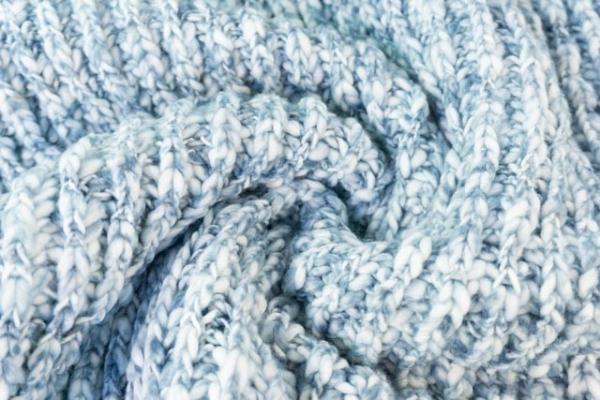 Kuschelstrick Ellie melange navy-jeansblau Ökotex 100