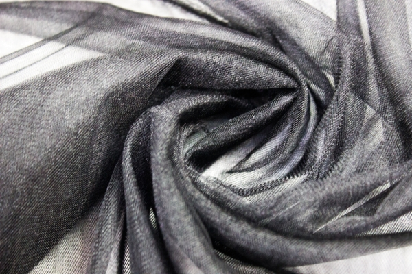 Glamour Softtüll Schleiertüll schwarz Ökotex 100
