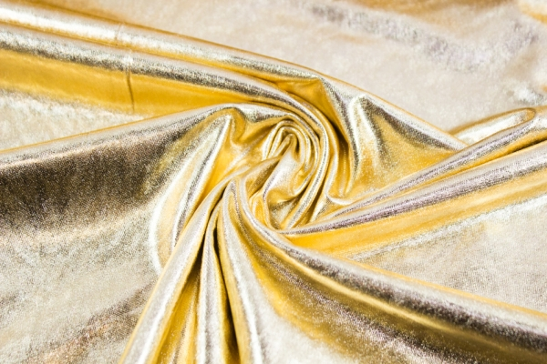 Folienjersey - Jersey Metallic gold Ökotex 100