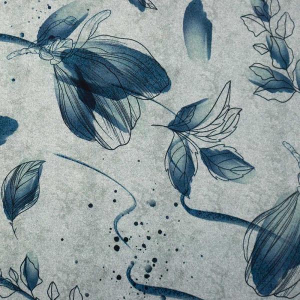 Bio-Baumwolljersey Melange Magnolienzauber grau