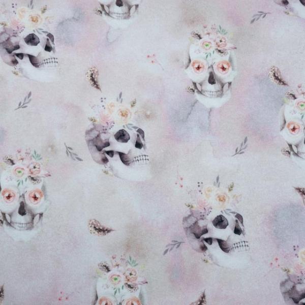 BIO Sommersweat Digital Lovely Skull rosa
