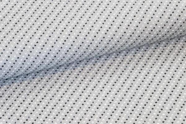 Baumwollwebware Kleine Tupfen grau Ökotex 100