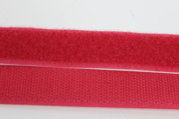 Klettverschluss Schlaufen und Widerhaken weinrot-hell 20mm
