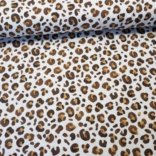 Baumwolljersey Leopard ecru