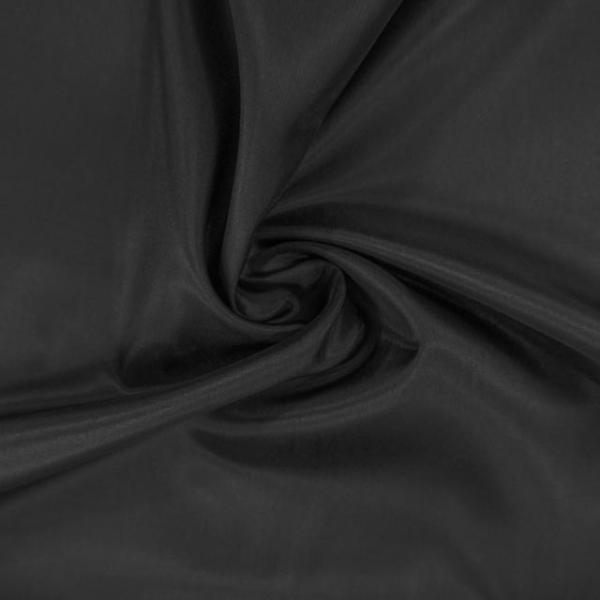 Futterstoff Uni schwarz antistatisch Ökotex 100