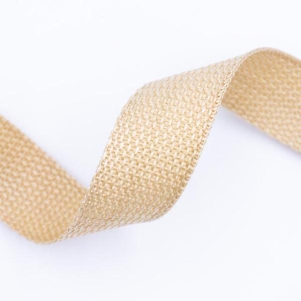 Gurtband Grobmaschig 25mm beige