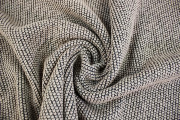 Strick Wollstoff Struktur schlamm melange 100% Wolle Ökotex 100