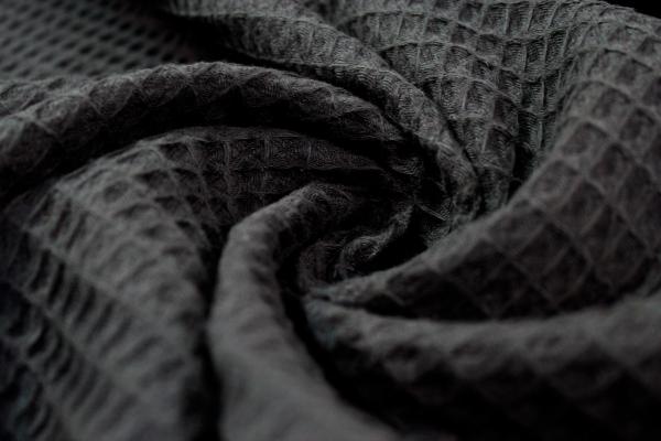 Waffelpiqué schwarz 100% Baumwolle Ökotex 100