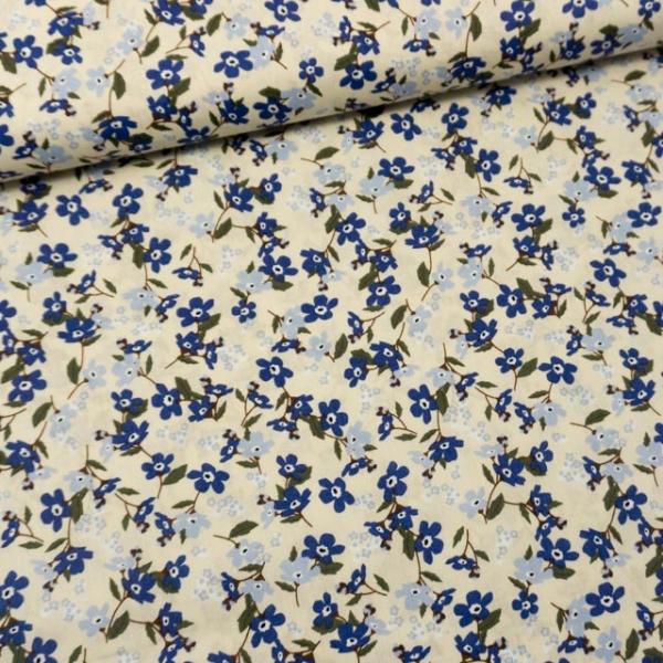 Baumwollwebware Fleurs beige