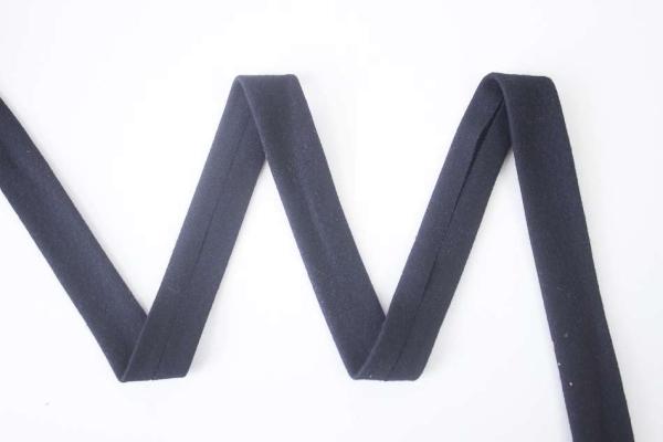 Jersey Schrägband vorgefalzt schwarz
