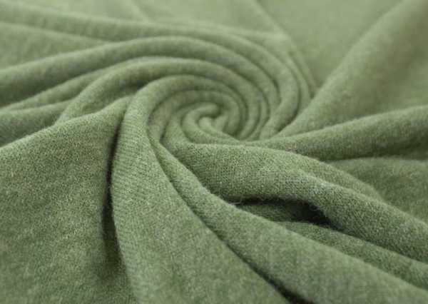 Strick-Jersey Angorastyle khaki melange - super kuschelig Ökotex 100