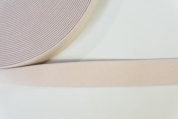 Gummiband SOFT light beige 25mm