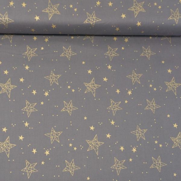 Baumwollwebware Christmas Star Sign grau
