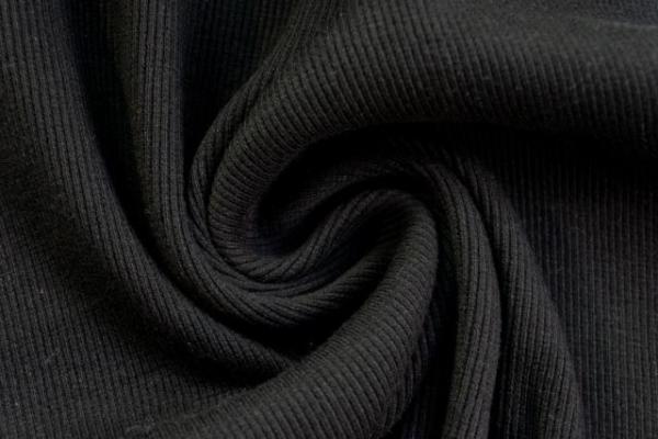 Bündchen Fein-Ripp schwarz -hohe Sprungkraft- Ökotex 100