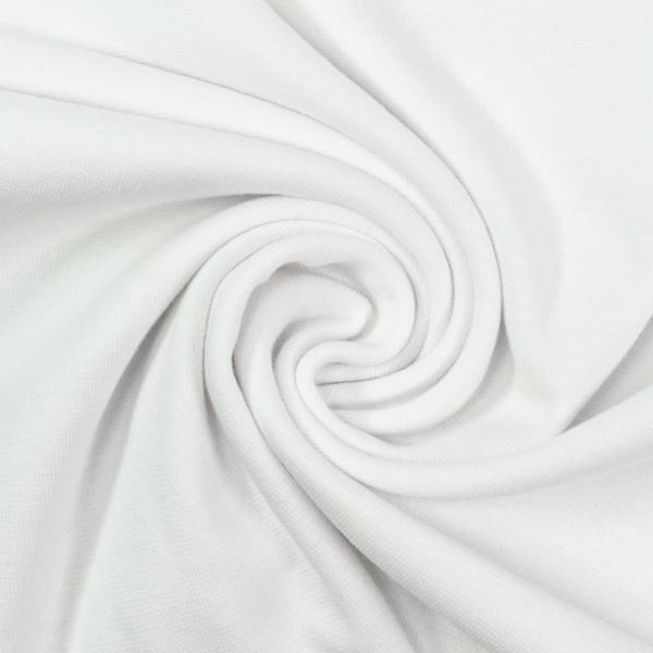 Bündchen Feinstrick weiß