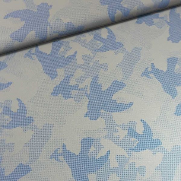 Reflex Reflektions-Stoff Camouflage jeansblau