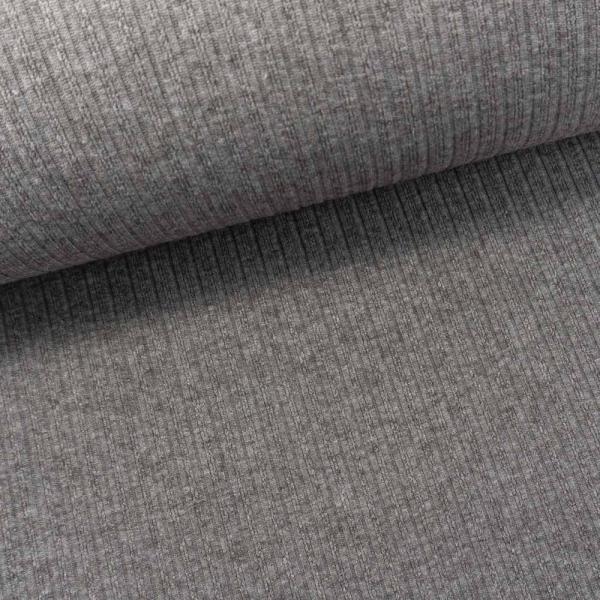 Jaquard Ripp-Knit Smooth Melange braun