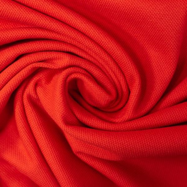 Poloshirt Baumwolljersey Uni rot