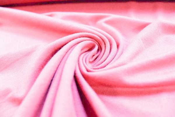 Viskosejersey Leinen Uni rosa Ökotex 100