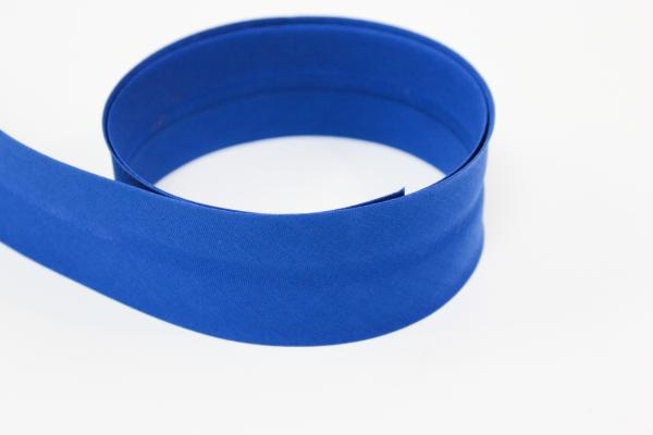 Schrägband2cm oder 4cm breit vorgefalzt königsblau Ökotex 100