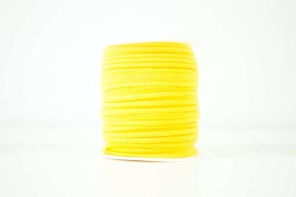 Jersey Paspelband gelb elastisch
